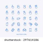 36 vector icons for web design... | Shutterstock .eps vector #297614186