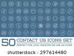 set of contact us service... | Shutterstock .eps vector #297614480