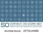 set of contact us service... | Shutterstock .eps vector #297614480