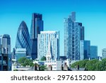 city of london. skyline on a... | Shutterstock . vector #297615200