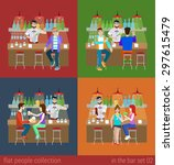 set of young men women boy girl ...   Shutterstock .eps vector #297615479