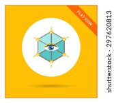 icon of human eye in hexagon  | Shutterstock .eps vector #297620813