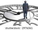 a senior walking on an enlarged ... | Shutterstock . vector #2976361