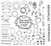 set of hand drawn design... | Shutterstock .eps vector #297645989