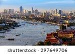 Bangkok City And Chaopraya...