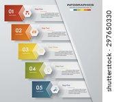 design clean number banners... | Shutterstock .eps vector #297650330