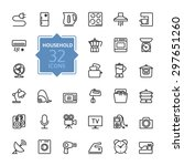 thin lines icon collection  ... | Shutterstock .eps vector #297651260