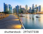 landscape of the singapore... | Shutterstock . vector #297657338