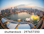 landscape of the singapore...   Shutterstock . vector #297657350