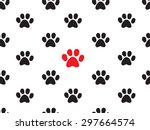seamless animal footprint... | Shutterstock .eps vector #297664574