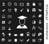 set of education icons.... | Shutterstock .eps vector #297669116