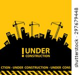 under construction background... | Shutterstock .eps vector #297679448