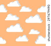 background pattern clouds | Shutterstock .eps vector #297679490