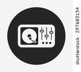 dj disk icon | Shutterstock .eps vector #297685154