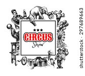Hand Drawn Sketch Circus And...