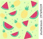background pattern fruit... | Shutterstock .eps vector #297690239