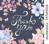 invitation card for wedding... | Shutterstock .eps vector #297695018