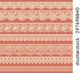 collection of beige borders...   Shutterstock .eps vector #297698840