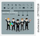 teamwork business concept of... | Shutterstock .eps vector #297705218