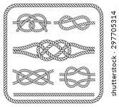 nautical rope knots. vector...   Shutterstock .eps vector #297705314