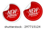 new arrival stickers | Shutterstock .eps vector #297715124