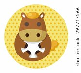 animal horse cartoon theme... | Shutterstock .eps vector #297717566