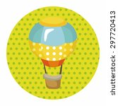 style hot air balloon theme... | Shutterstock .eps vector #297720413