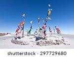flags on salar de uyuni | Shutterstock . vector #297729680