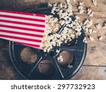 cinema concept of vintage film... | Shutterstock . vector #297732923