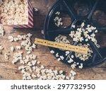cinema concept of vintage film... | Shutterstock . vector #297732950