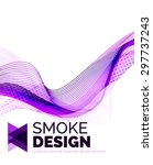 color smoke wave isolated on...   Shutterstock . vector #297737243
