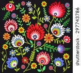 folk pattern flowers | Shutterstock .eps vector #297743786