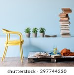 Blue Wall Interior Style With...