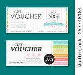vector illustration gift... | Shutterstock .eps vector #297748184