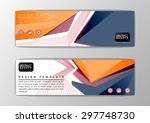 modern abstract triangle banner ... | Shutterstock .eps vector #297748730