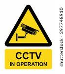 video surveillance sign | Shutterstock .eps vector #297748910