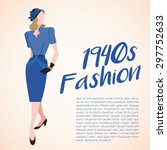 world fashion history set  ... | Shutterstock .eps vector #297752633