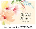 decorative card. watercolor... | Shutterstock .eps vector #297758420