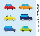 urban traffic vehicles cars... | Shutterstock .eps vector #297763040