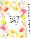 watercolor greeting card... | Shutterstock .eps vector #297764714