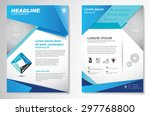 vector brochure flyer design... | Shutterstock .eps vector #297768800