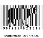animal rights barcode with cow... | Shutterstock .eps vector #297776726