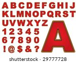 the sewn letters | Shutterstock .eps vector #29777728