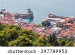 overview of nafpaktos harbor ... | Shutterstock . vector #297789953