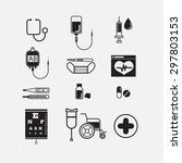 medical icons  hospital set.   Shutterstock .eps vector #297803153