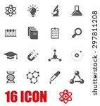 vector gray science icon set. | Shutterstock .eps vector #297811208