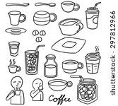 vector set of coffee | Shutterstock .eps vector #297812966