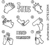 Vector Set Of Hand Washing Steps