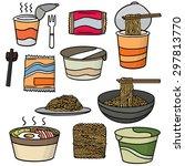 vector set of noodle   Shutterstock .eps vector #297813770