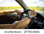 holding a steering wheel | Shutterstock . vector #297814406